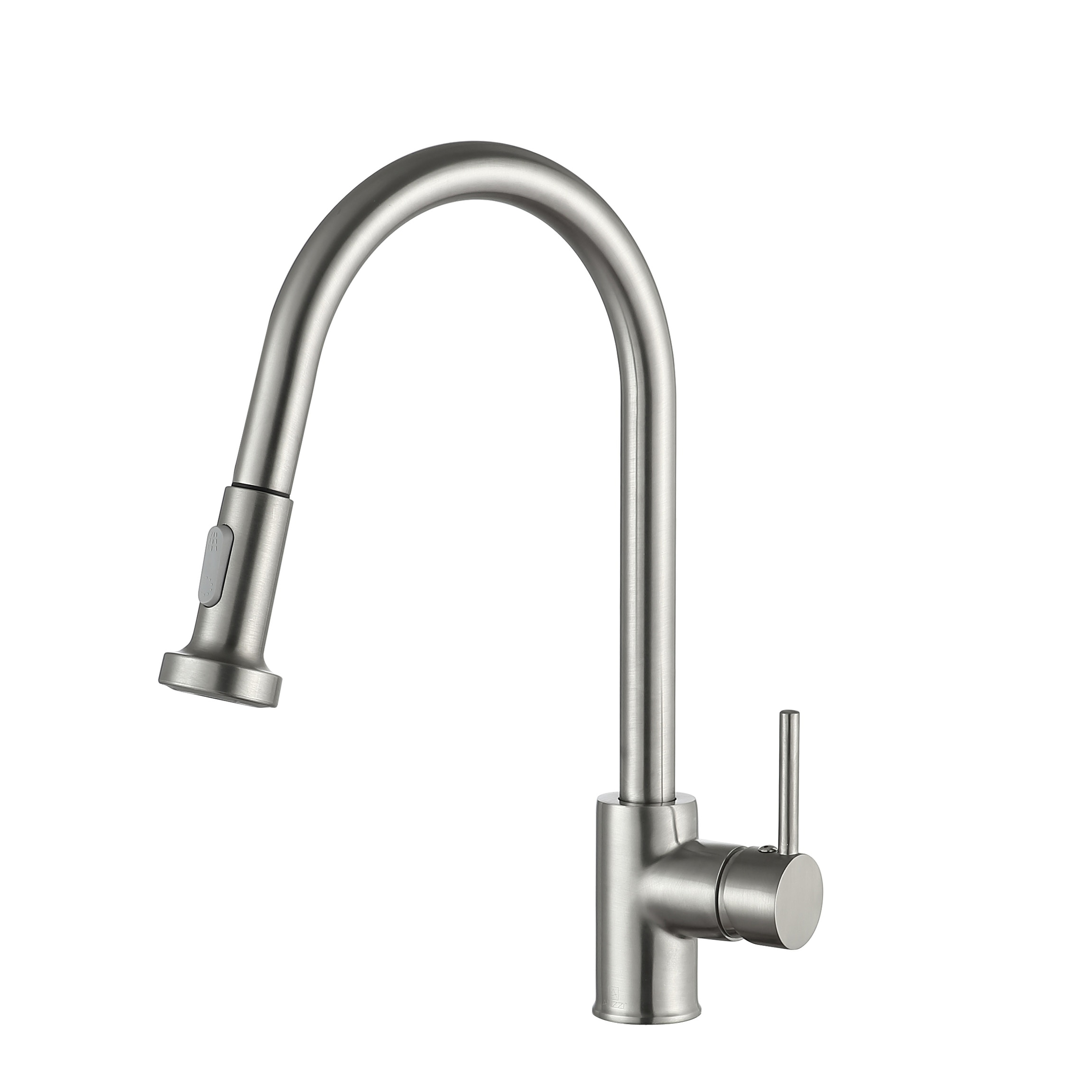 Anzzi Tycho Single Handle Pull Out Sprayer Kitchen Faucet In Brushed Nickel Silver Overstock 21892609