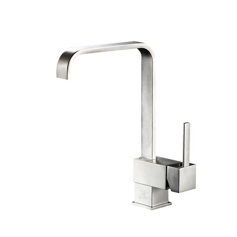 ANZZI Sabre Single-Handle Standard Kitchen Faucet in Brushed Nickel - Silver