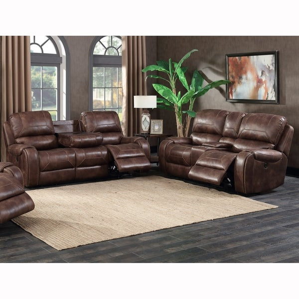 Shop Spencer Buckskin Brown Power Reclining Sofa and Console ...