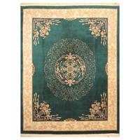 Handmade Herat Oriental Chinese Hand-knotted Peking Wool Rug (8' x 10'4)