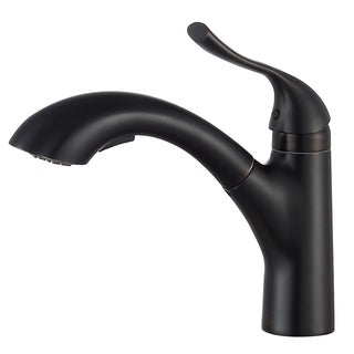 ANZZI Navona Single-Handle Pull-Out Sprayer Kitchen Faucet in Oil Rubbed Bronze - Brown