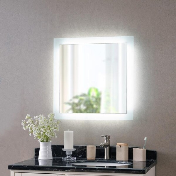 """Harlow 26-inch Square LED Mirror - 26"""" x 26"""""""