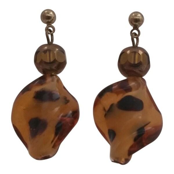 Heavenly Beads Leopard Print Earrings