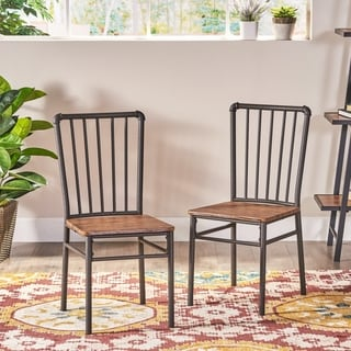 Link to Balthazar Industrial Chairs (Set of 2) by Christopher Knight Home Similar Items in Dining Room & Bar Furniture