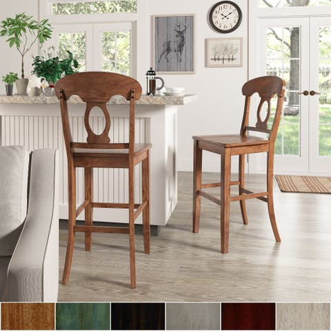 Eleanor Napoleon Back Bar Height Chairs (Set of 2) by iNSPIRE Q Classic