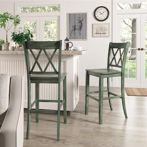 Eleanor X Back Bar Height Chairs (Set of 2) by iNSPIRE Q Classic - Chair