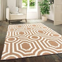 "Westfield Home Hecate Hebe Light Brown Area Rug - 5'3"" x 7'2"""