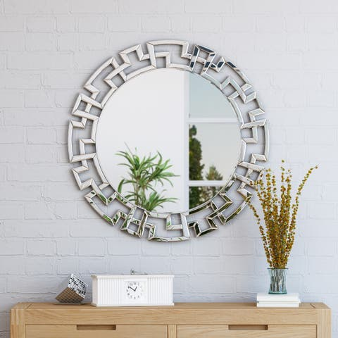 Kyra Glam Wall Mirror by Christopher Knight Home - Clear