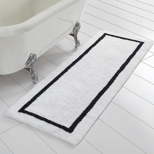 Amrapur Overseas Reversible Contrast Stripe Bath Runner