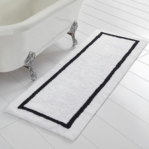 Modern Threads Reversible Contrast Stripe Bath Runner