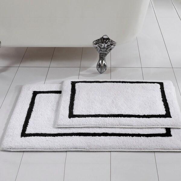Reversible Bathroom Mats: Shop Amrapur Overseas 2-Pack Reversible Contrast Stripe