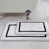 Amrapur Overseas 2-Pack Reversible Contrast Stripe Bath Mat Set