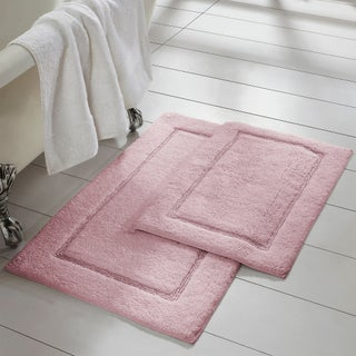 Amrapur Overseas 2-Pack Solid Loop With Non-Slip Backing Bath Mat Set
