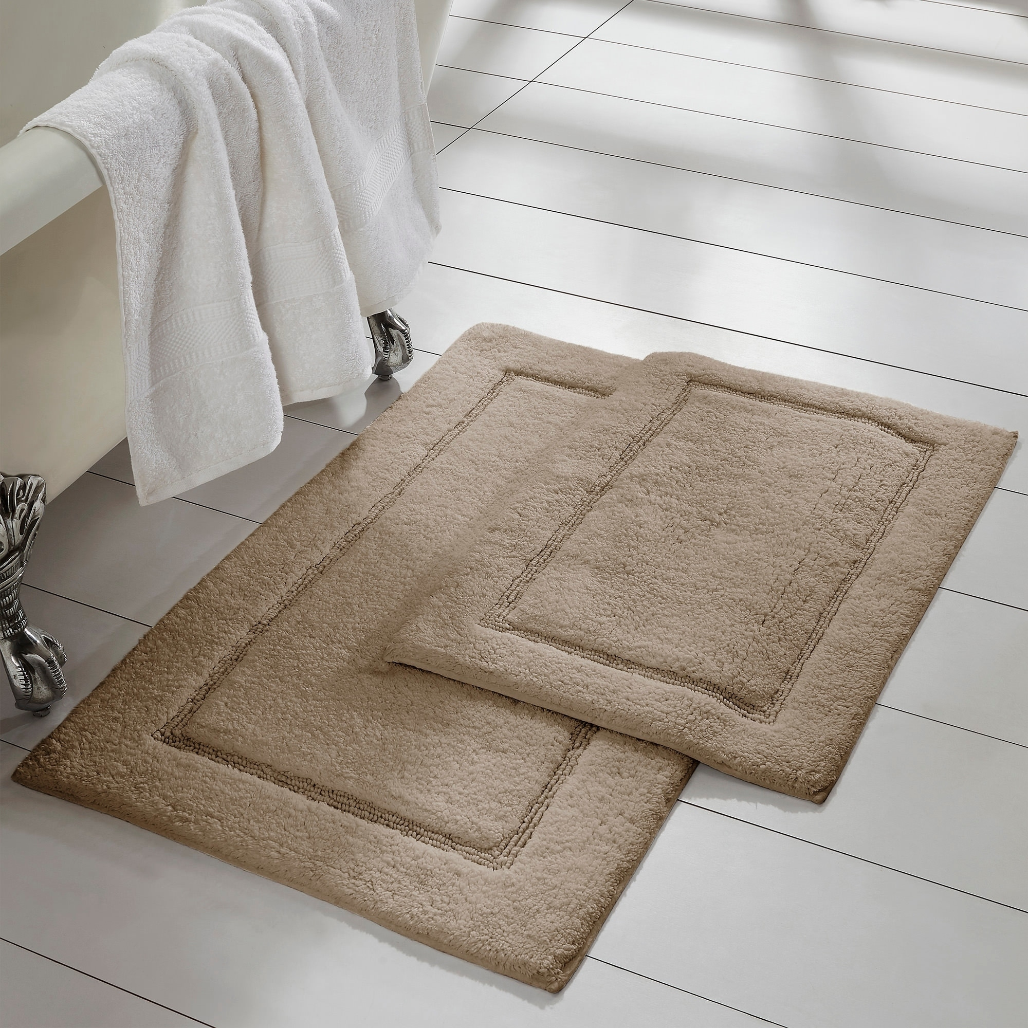 Modern Threads 2 Pack Solid Loop With Non Slip Backing Bath Mat Set On Sale Overstock 21893533