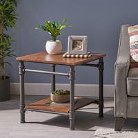 Cagny Industrial Wood End Table by Christopher Knight Home