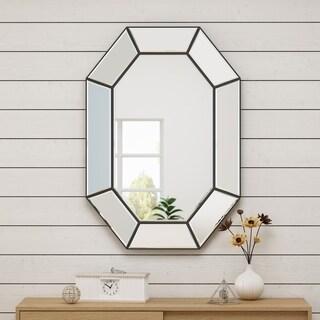 Sadiya Glam Wall Mirror by Christopher Knight Home - mirror + black