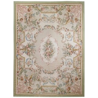 Wool Aubusson Rug - 9' x 12'