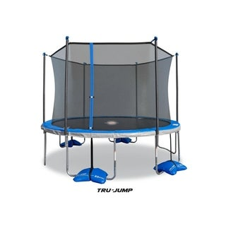 TruJump 12-Feet Trampoline with Tru-Steel Enclosure and Spin-n-Light