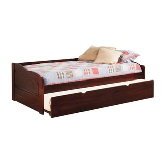 Taylor & Olive Savery Transitional Wooden Daybed with Trundle