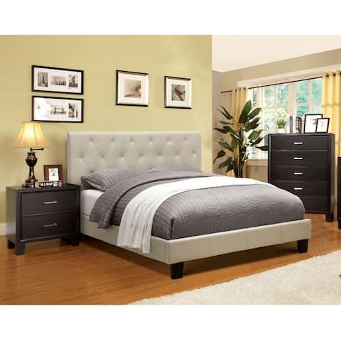 Furniture of America Perdella 3-piece Ivory Low Profile Bedroom Set