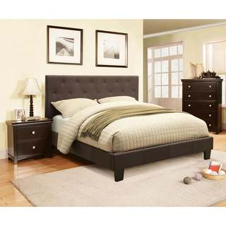 Porch & Den Halfway 2-piece Grey Low-Profile Bed with Nightstand Set