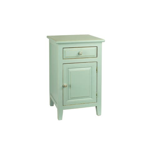 The Curated Nomad Cache Painted Wood Nightstand