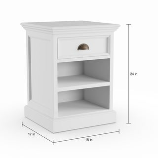 The Gray Barn Idlewild Mahogany Bedside Table with Shelves