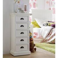 Havenside Home Keansburg White Mahogany 5-drawer Storage Unit