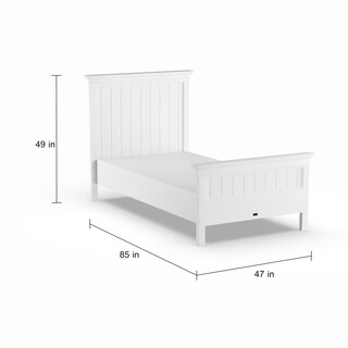 Havenside Home Keansburg White Mahogany Twin-size Bed