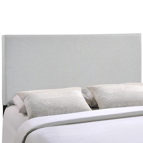 Porch & Den Lorman Grey Upholstered Headboard