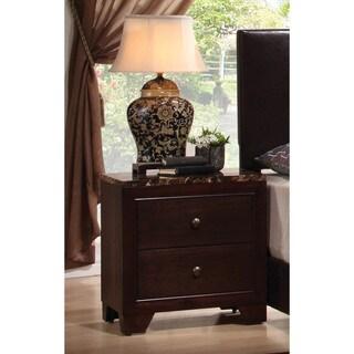 Copper Grove Dartmoor Cappuccino 2-drawer Nightstand