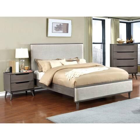 Furniture of America Corrine II Mid-century Modern King Platform Bed