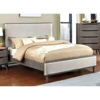 Carson Carrington Bodo Mid-century Modern Upholstered King-size Platform Bed
