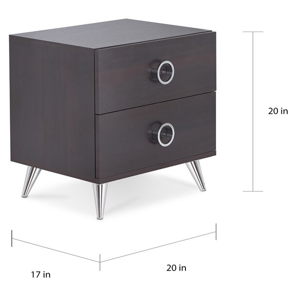 Carson Carrington Rjukan Contemporary Multicolor 2-drawer Nightstand