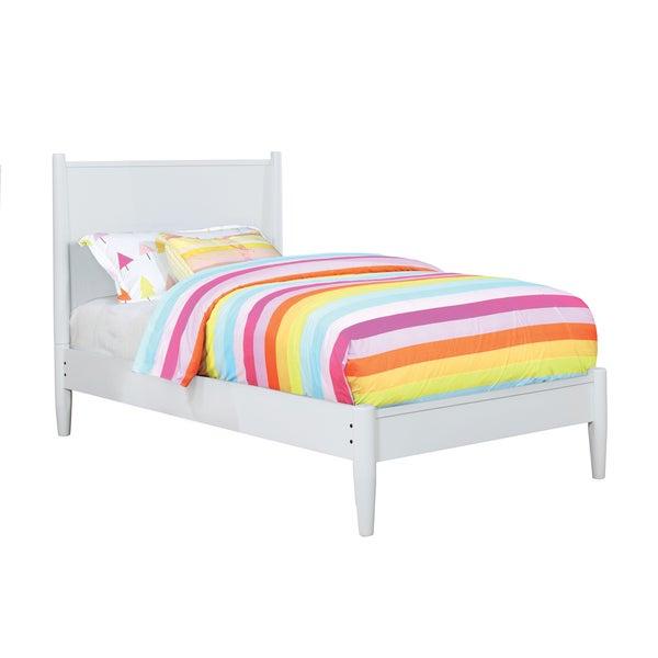 Furniture of America Coop Mid-Century Solid Wood Teen Platform Bed