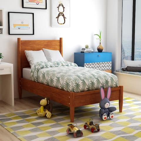 Furniture of America Coop Solid Wood Teen Platform Bed