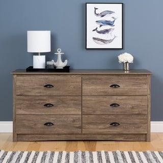 Porch & Den Emile Grey Salt Spring 6-drawer Dresser