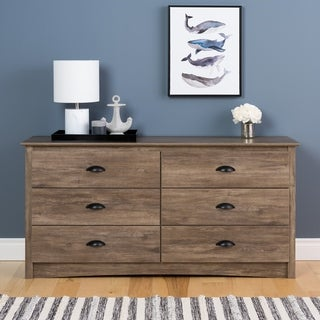 Porch & Den Church Grey Salt Spring 6-drawer Dresser