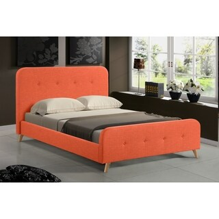 Palm Canyon Adobe Orange Mid Century Upholstered Platform Bed