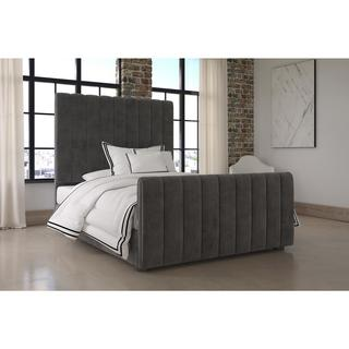Strick & Bolton Fodor Upholstered Grey Bed