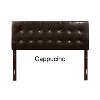 Palm Canyon Del Paso Full Button Tufted Faux Leather Headboard