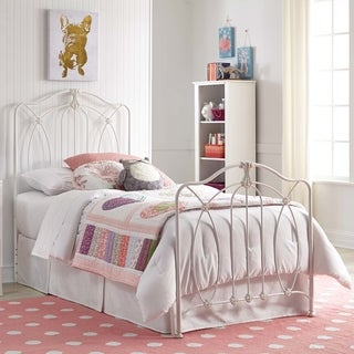 Maison Rouge Eleanor Kids Bed with Metal Duo Panels and Medallions Accents