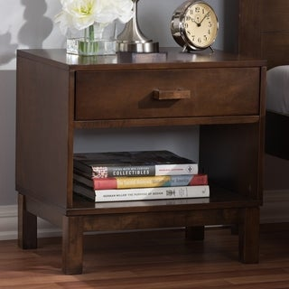 Porch & Den Anderson Contemporary Brown 1-drawer Nightstand