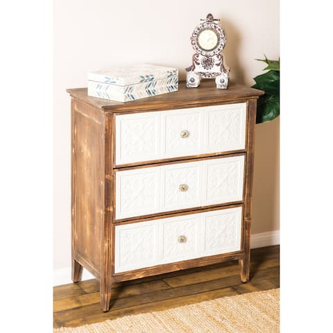 The Curated Nomad Heathcote Modern 30 x 26 Inch 3-drawer Rectangular Cabinet