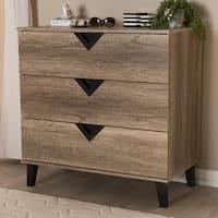 Carson Carrington Dragor Modern Light Brown Wood 3-drawer Chest