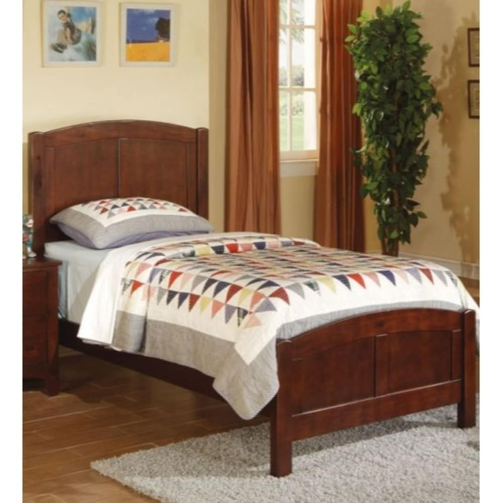 Wooden Twin Size Bed.Copper Grove Hollyhock Wooden Twin Size Bed With Headboard And Footboard