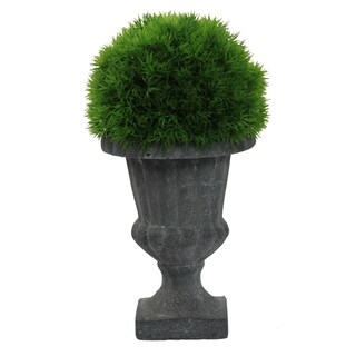 Faux Dill Topiary With in Urn, Green