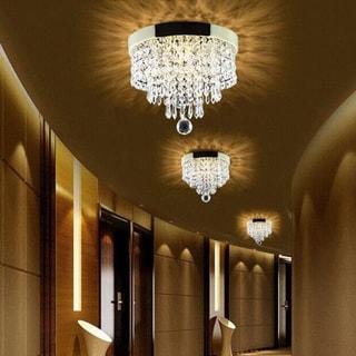 Elegant Chandelier Crystal Drop Light Clear Ceiling Fixture Lamp