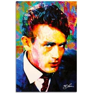 Mark Lewis 'James Dean Lifes Significance' 22in x 32in Celebrity Pop Art on Plexiglass
