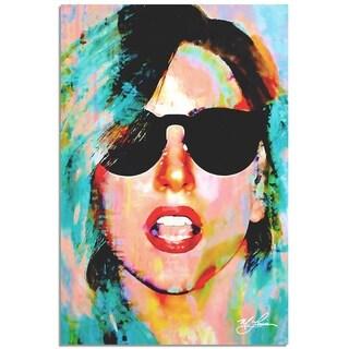Mark Lewis 'Lady Gaga Everyday Art' 22in x 32in Celebrity Pop Art on Metal